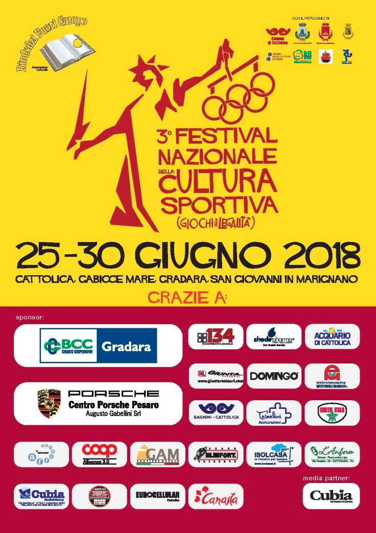Festival Cultura Sportiva 2018 SPONSOR
