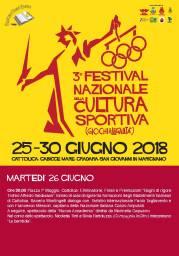 Festival Nazionale Cultura Sportiva 26.06 martedi