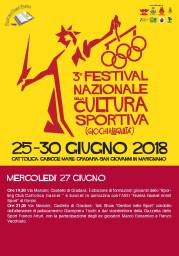 Festival Nazionale Cultura Sportiva 27.06 mercoledi