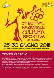 Festival Nazionale Cultura Sportiva 28.06 giovedi