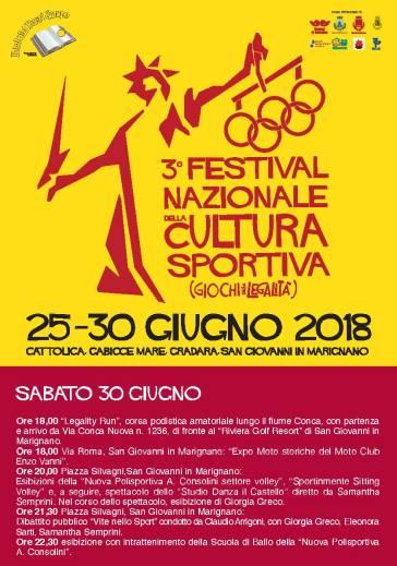 Festival Nazionale Cultura Sportiva 30.06 sabato
